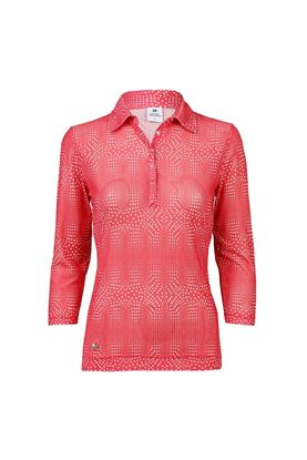 Show details for Daily Sports Aggie 3/4 Sleeve Polo Shirt - Watermelon