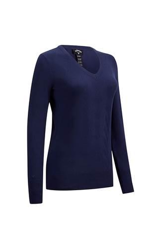 Picture of Callaway Ladies Cascade Argyle Sweater - Peacoat