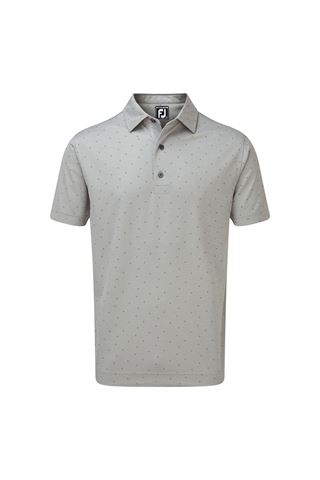 Picture of Footjoy zns Men's Smooth Pique with FJ Print - Heather Grey / Granite
