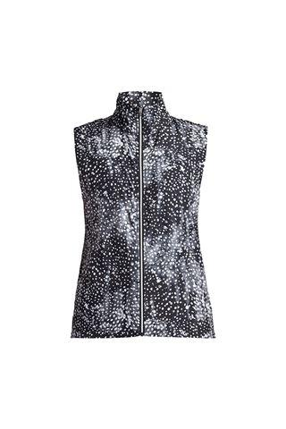 Picture of Rohnisch  zns Ladies Pocket Wind Vest - Black Dot