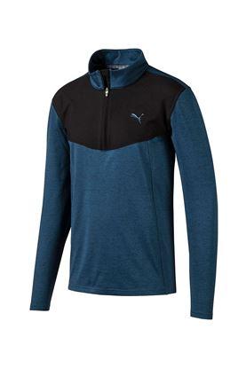 Show details for Puma Golf Men's Preston 1/4 Zip Sweater - Gibralter Sea Heather