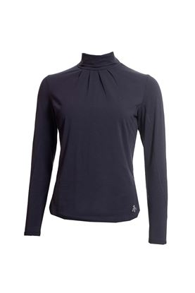 Show details for Green Lamb Ladies Regan Cotton Roll Neck Top - Navy