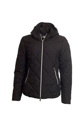 Show details for Green Lamb Ladies Jules Quilted Jacket with Hood - Black