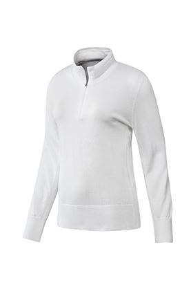 Show details for adidas Ladies 3 Stripe Sweater - White