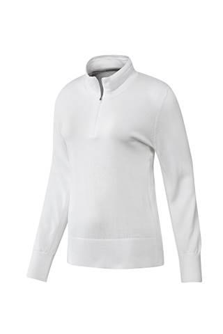 Picture of adidas Ladies 3 Stripe Sweater - White