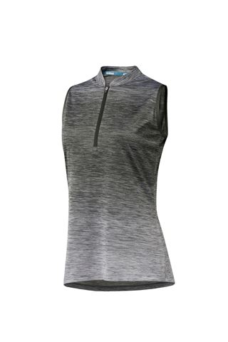 Picture of adidas Ladies Novelty Sleeveless Polo Shirt - Legend Earth