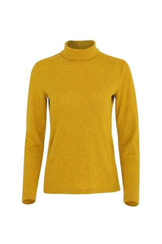 Picture of Swing out Sister Ladies Grace Roll Neck Baselayer - Mellow Gold