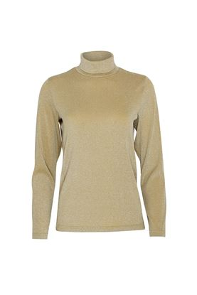 Show details for Swing out Sister Ladies Grace Roll Neck Baselayer - Gold