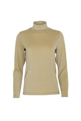 Picture of Swing out Sister Ladies Grace Roll Neck Baselayer - Gold