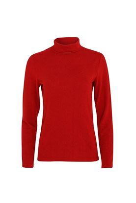 Show details for Swing out Sister Ladies Grace Roll Neck Baselayer - Chilli Red