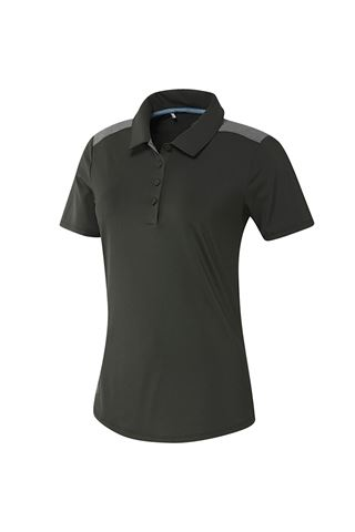 Picture of adidas zns Golf Ladies Ultimate Heather Short Sleeve Polo Shirt - Legend Earth