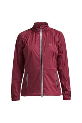 Show details for Rohnisch Ladies Waterproof Rain Jacket - Burgundy Rain Swirl