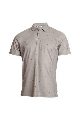 Show details for Calvin Klein Men's Golf Monogram Polo Shirt - Grey Marl
