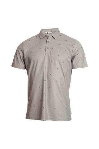 Picture of Calvin Klein Men's Golf Monogram Polo Shirt - Grey Marl