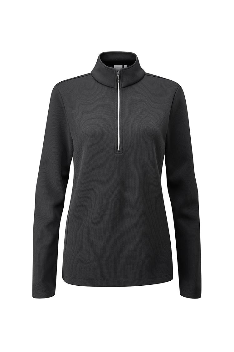 Picture of Ping Ladies Lyla Half Zip Fleece Golf Top - Black