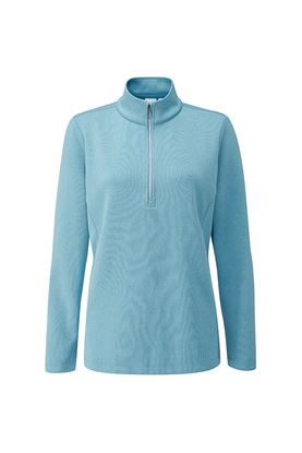 Show details for Ping Ladies Lyla Half Zip Fleece Golf Top - Tranquil Blue Marl