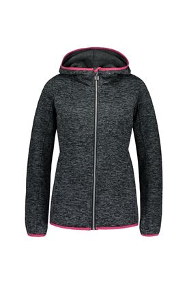 Show details for Catmandoo Ladies Mew Knit Fleece Jacket - Grey / Black Melange