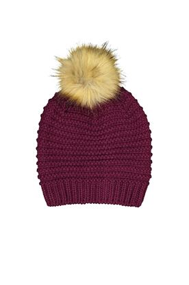 Show details for Catmandoo Ladies Ilo Reverse Knit Beanie - Purple