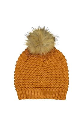 Show details for Catmandoo Ladies Ilo Reverse Knit Beanie - Yellow Autumn