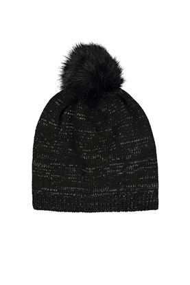 Show details for Catmandoo Ladies Zoe Glitter Yarn Beanie - Black