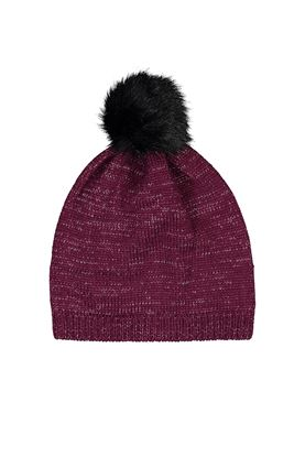 Show details for Catmandoo Ladies Zoe Glitter Yarn Beanie - Purple