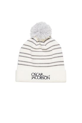 Show details for Oscar Jacobson Men's Thor Bobble Hat - Cream 921