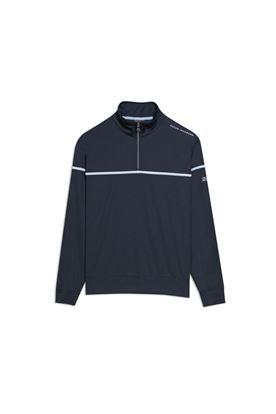 Show details for Oscar Jacobson Men's Bill Course Half Zip Pullover - Blue 210