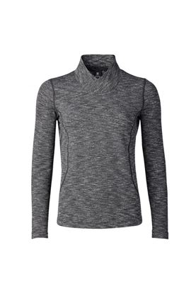 Show details for Daily Sports Ladies Lea Long Sleeve Mock Neck - 999 Black