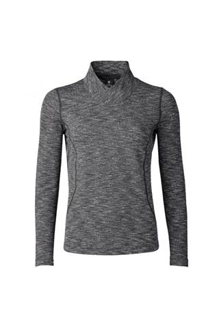 Picture of Daily Sports Ladies Lea Long Sleeve Mock Neck - 999 Black