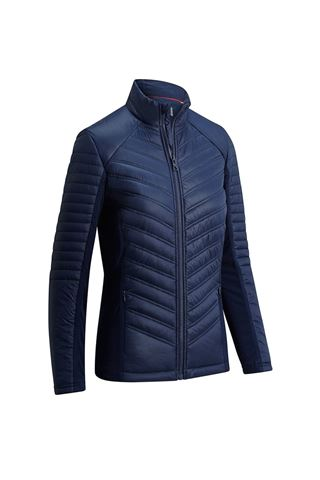 Picture of Callaway zns Golf Ladies Mixed Media Puffer Jacket - Peacoat