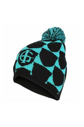 Show details for Island Green Ladies Knitted Beanie Bobble Hat - Black