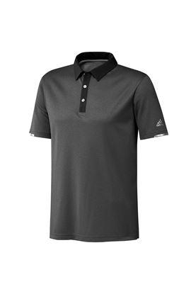 Show details for adidas Men's Heat Ready Base Polo Shirt - Black Melange / Black