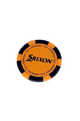 Show details for Srixon Poker Chip Ball Marker - Orange / Black