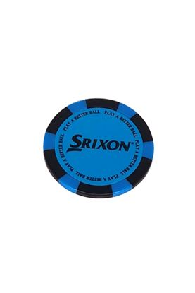 Show details for Srixon Poker Chip Ball Marker - Bright Blue / Black