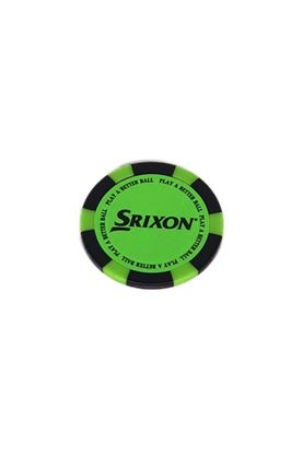 Show details for Srixon Poker Chip Ball Marker - Bright Green / Black