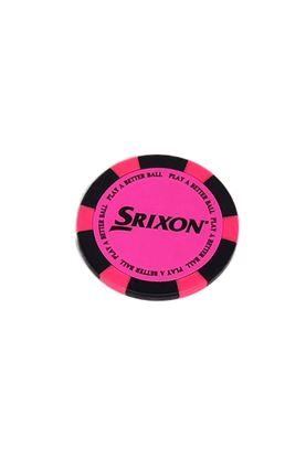 Show details for Srixon Poker Chip Ball Marker - Bright Pink / Black