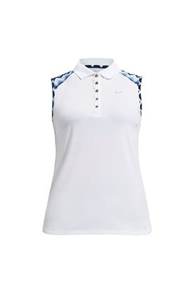 Show details for Rohnisch Ladies Element Sleeveless Polo Shirt - Zigzag Blue