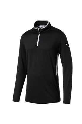 Show details for Puma Golf Men's Rotation 1/4 Zip Midlayer - Puma Black
