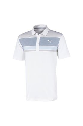 Show details for Puma Golf Men's Road Map Polo Shirt - Peacoat / Blue Bell
