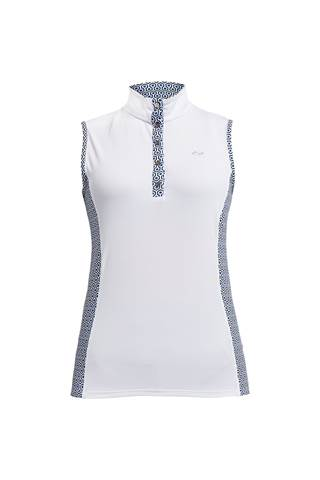 Picture of Rohnisch Ladies Bliss Sleeveless Polo Shirt - Geo Comb Blue