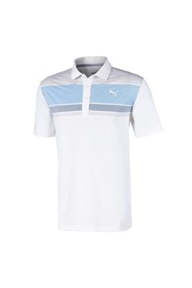 Show details for Puma Golf Men's Road Map Polo Shirt - Ibiza Blue / Dark Denim