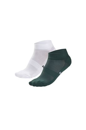 Show details for Rohnisch Ladies 2 Pack Short Socks - Palm Green / White