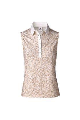 Show details for Daily Sports Ladies Nova Sleeveless Polo Shirt - Straw 312