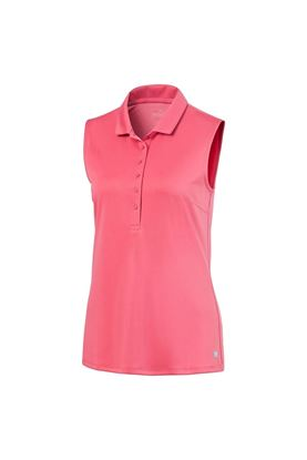 Show details for Puma Golf Ladies Rotation Sleeveless Polo Shirt - Rapture Rose 05