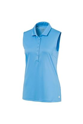 Show details for Puma Golf Ladies Rotation Sleeveless Polo Shirt - Ethereal Blue  07