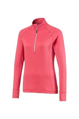 Show details for Puma Golf Women's Rotation 1/4 Zip - Rapture Rose