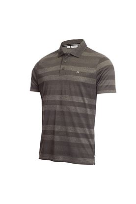 Show details for Calvin Klein Men's Shadow Stripe Polo Shirt - Charcoal Marl