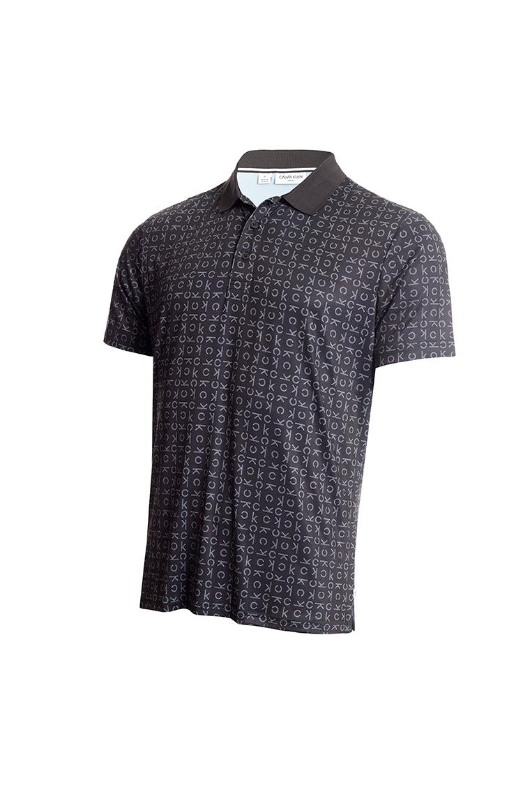 Picture of Calvin Klein Men's Geo CK Polo Shirt - Black