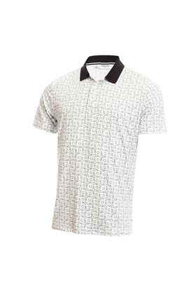Show details for Calvin Klein Men's Geo CK Polo Shirt - White