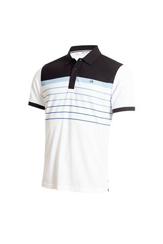 Picture of Calvin Klein Men's Flint Polo Shirt - White / Black